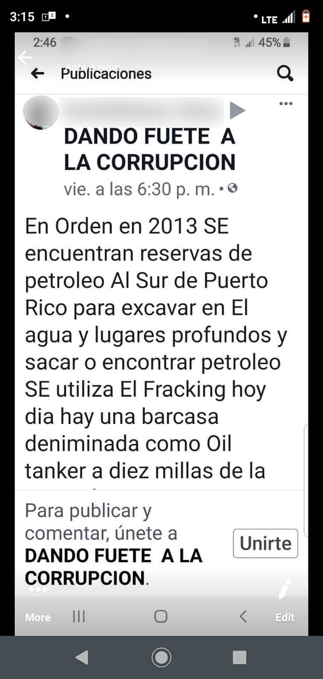 Imagen de discusión sobre terremoto y fracking
