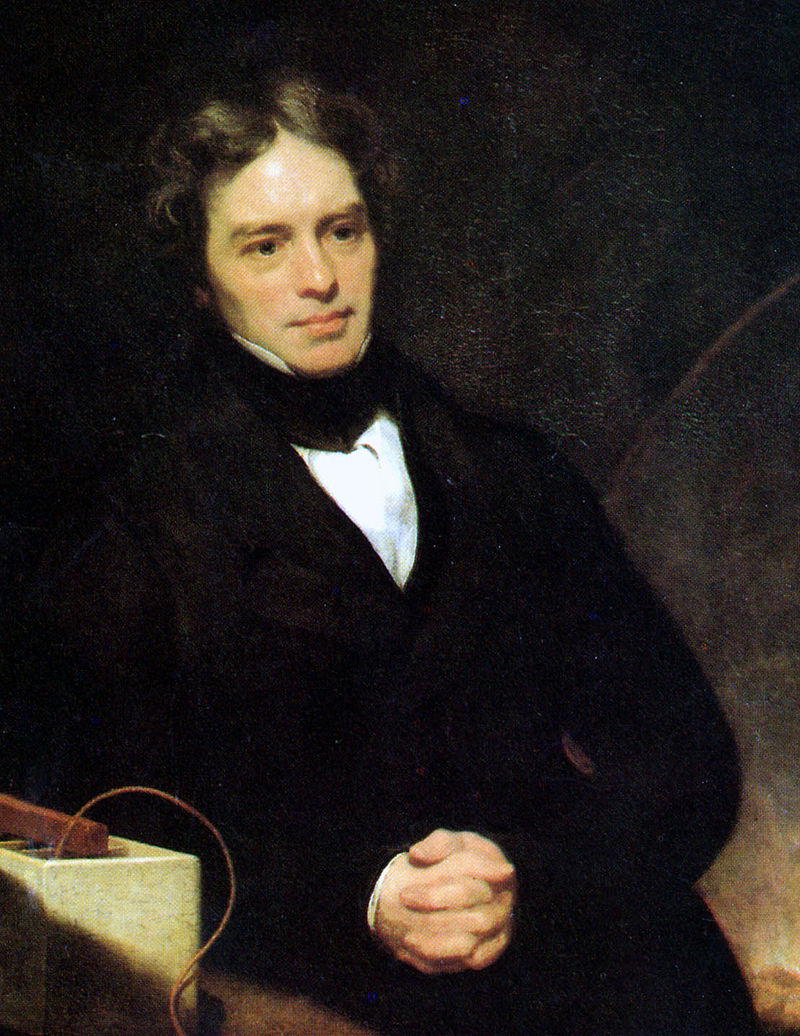 Retrato de Michael Faraday por Thomas Phillips (1842)