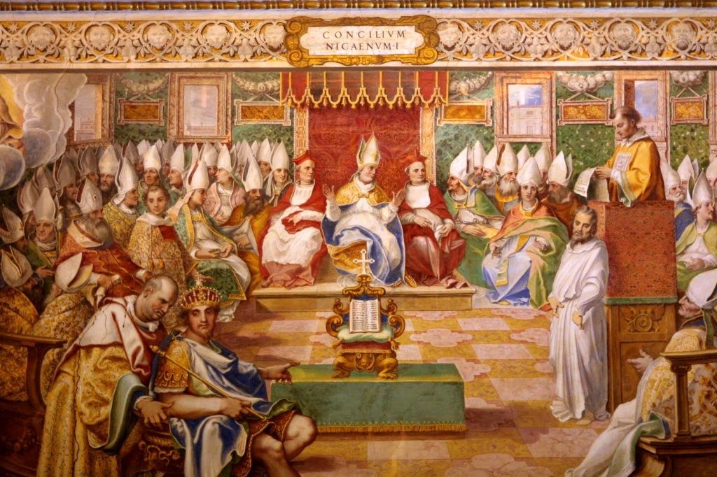 Representación del Concilio de Nicea