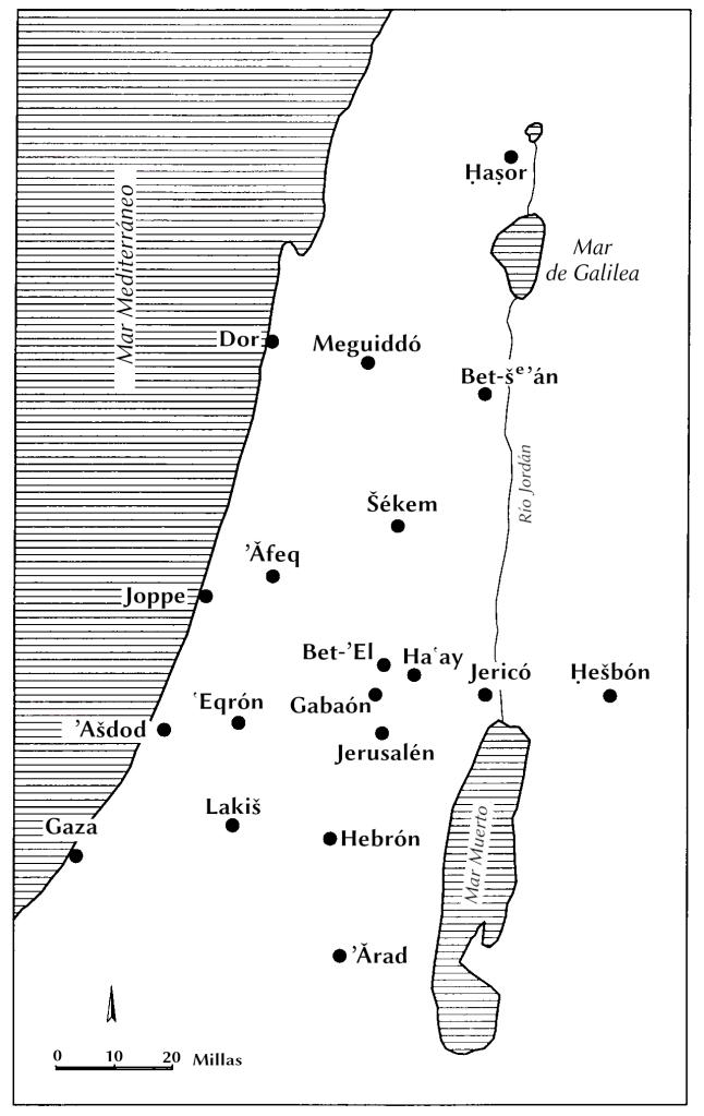 Lugares de la conquista de Canaán
