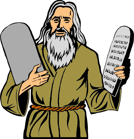 Moisés con las Tablas de la Ley