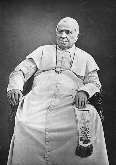 Foto del Papa Pío IX (1875).
