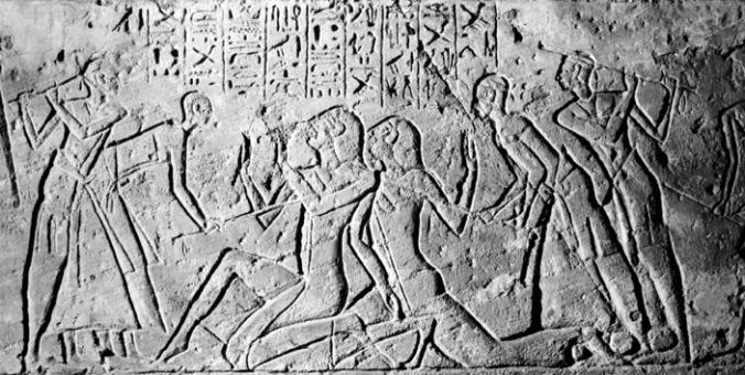 Egipcios golpean a espías šasū