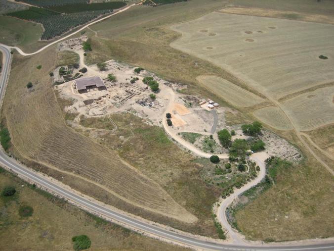 Vista aérea de Ḥaṣor