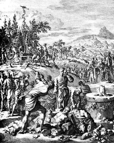 Destrucción de ídolos por el rey Ezequías