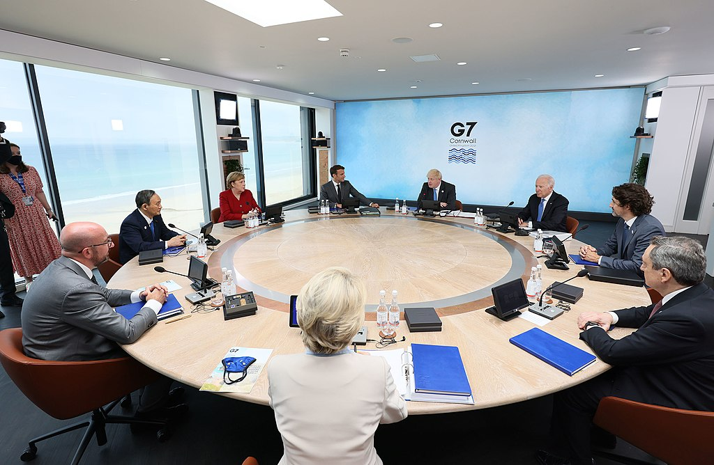 Gobernantes en una reunión del G7
