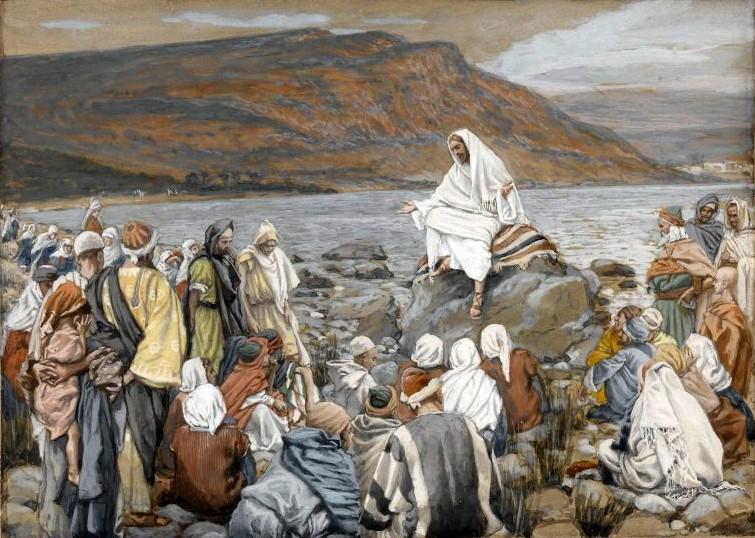 Jesús enseña al público