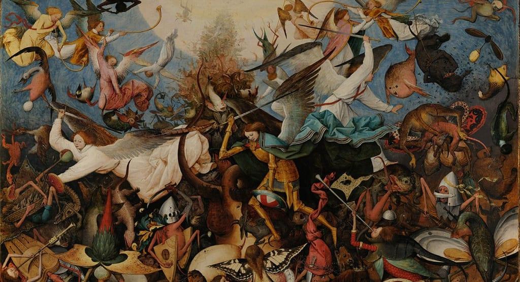 La caída de los ángeles rebeldes por Pieter Bruegel el Viejo (1562).