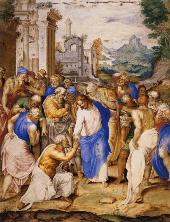 Jesús le entrega las llaves del Reino a Pedro