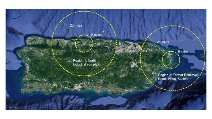 Mapa de potenciales sitios para los SMRs.